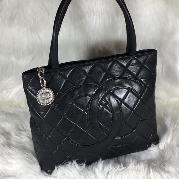 489642ce49bd CHANEL Handbags - Chanel Black Lambskin Medallion Tote
